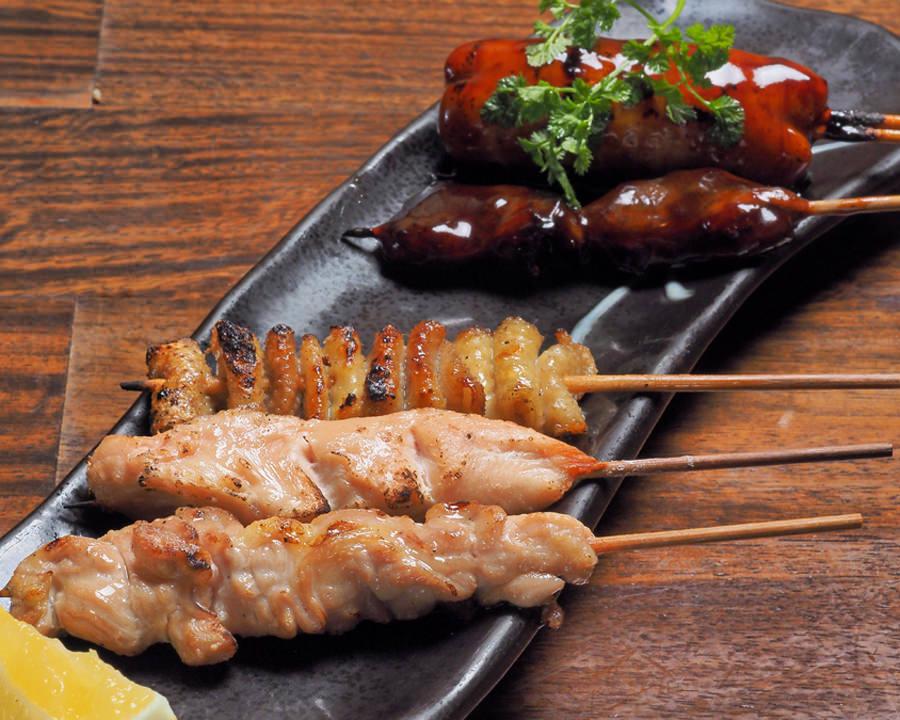 鶏串五種盛り合わせ